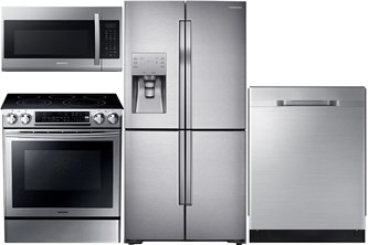 Samsung Slide-In and Counter Depth Upgrade Kitchen Package - Electric