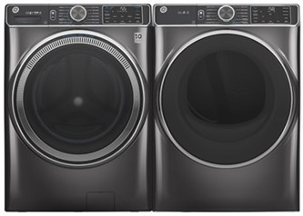 GE Appliances Steam Upgrade Laundry Diamond Gray - Electric