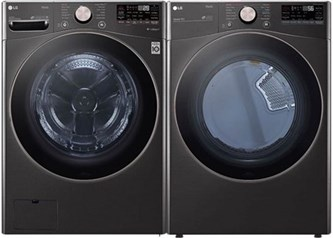 LG Front Load Black Laundry - Gas