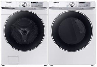Samsung Steam Upgrade Laundry White  - Electric