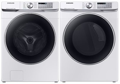 Samsung Steam Laundry White - Gas