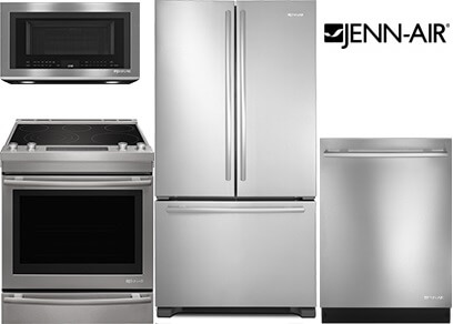 jenn-air stainless steel kitchen appliance package