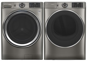 GE Appliances Steam Laundry Satin Nickel - Electric