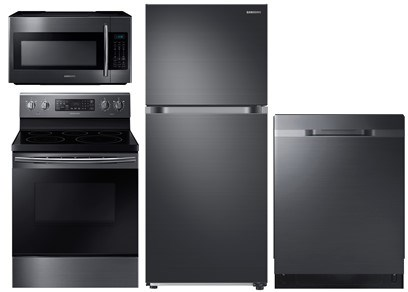 Samsung Top Mount Black Stainless - Electric