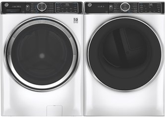 GE Appliances Steam Upgrade Laundry White - Gas