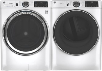 GE Appliances Steam Laundry White - Gas