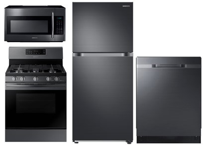 Samsung Top Mount Black Stainless - Gas
