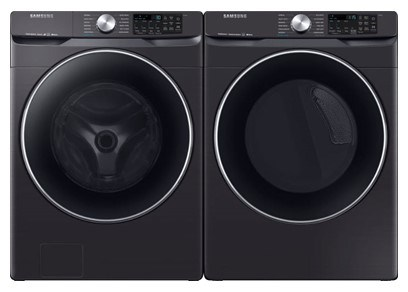 Samsung Steam Laundry Black Stainless Steel - Gas