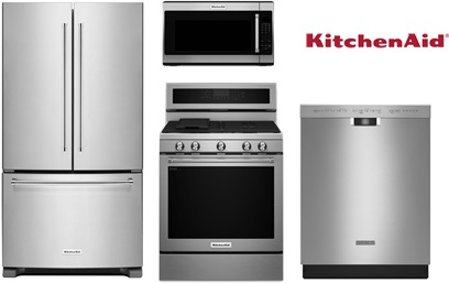 KitchenAid 33 Inch French Door Package - Gas