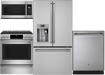 GE Cafe Counter Depth Kitchen Package - Gas