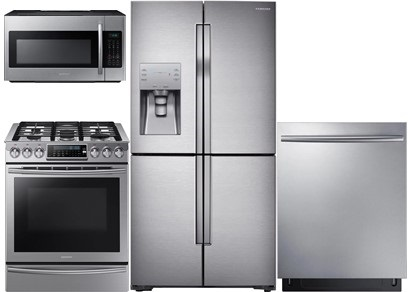Samsung Slide-In and Counter Depth Upgrade Kitchen Package - Gas