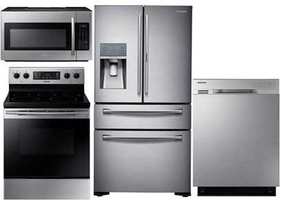 Samsung Stainless Steel Package with Freestanding Range - Electric