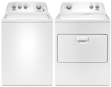 Whirlpool Top Load Laundry Package - Electric