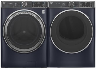 GE Appliances Steam Upgrade Laundry Sapphire Blue - Gas