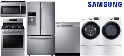 Samsung Counter Depth Kitchen and Laundry - Gas