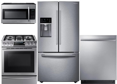 Samsung Slide-In and Counter Depth Kitchen Package - Gas