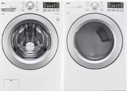 LG Front Load Washer Laundry Pair - Gas