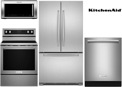 kitchenaid stainless steel kitchen appliance package