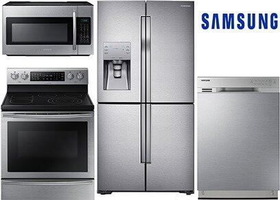 samsung counter depth stainless steel kitchen appliance package