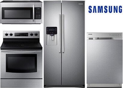 samsung entry stainless steel kitchen appliance package