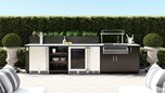 Urban Bonfire Outdoor Kitchen Design - Hampton Design