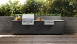 Urban Bonfire Outdoor Kitchen Design - Malibu Design