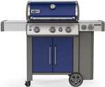 Genesis II E-335 Gas Grill - Deep Ocean Blue Free Delivery and Assembly on Grills over $499