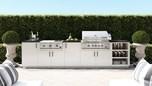 Urban Bonfire Outdoor Kitchen Design - Cayman Design