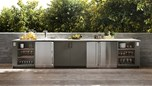 Urban Bonfire Outdoor Kitchen Design - Miramar Design