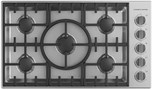 "36"" Stainless Steel Gas Sealed 5 Burner Cooktop"