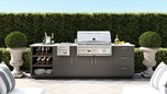 Urban Bonfire Outdoor Kitchen Design - Carmel Design