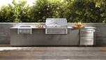 Urban Bonfire Outdoor Kitchen Design - Ravenna Design